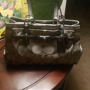 Coach gray signature satchel